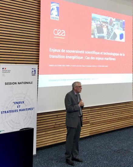 IHEDN   6e SN ESM à Nantes : Pierre Serre-Combes expose aux auditeurs sa vision des enjeux de souveraineté scientifiques et technologiques