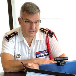 IHEDN | Séminaire breton Virtuel pour la 6e Session nationale : Le contre-amiral Christophe Lucas débat avec les auditeurs sur les capacités d'action des commandos marines.
