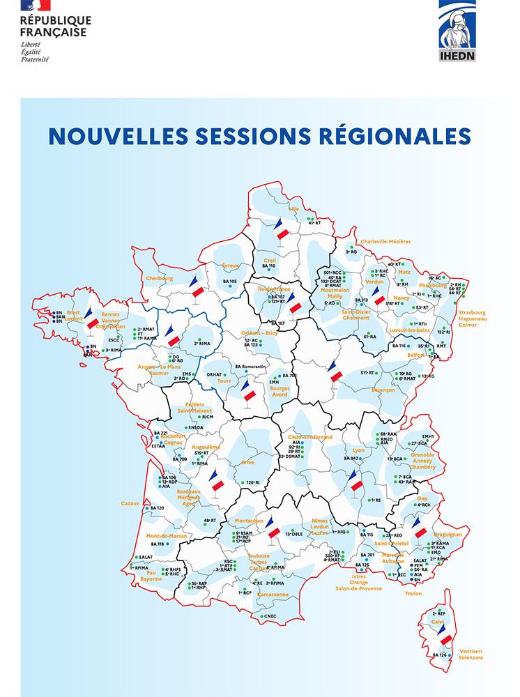 la brochure des sessions en région de l'IHEDN - Politique de défense - 2021