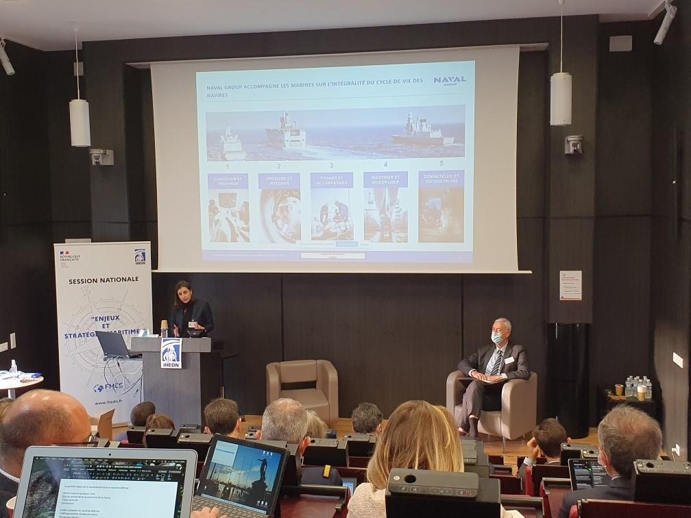 © IHEDN | 6e ESM au séminaire Toulon-Marseille : avec Aurore Neuschwander, directrice de la stratégie de Naval Group
