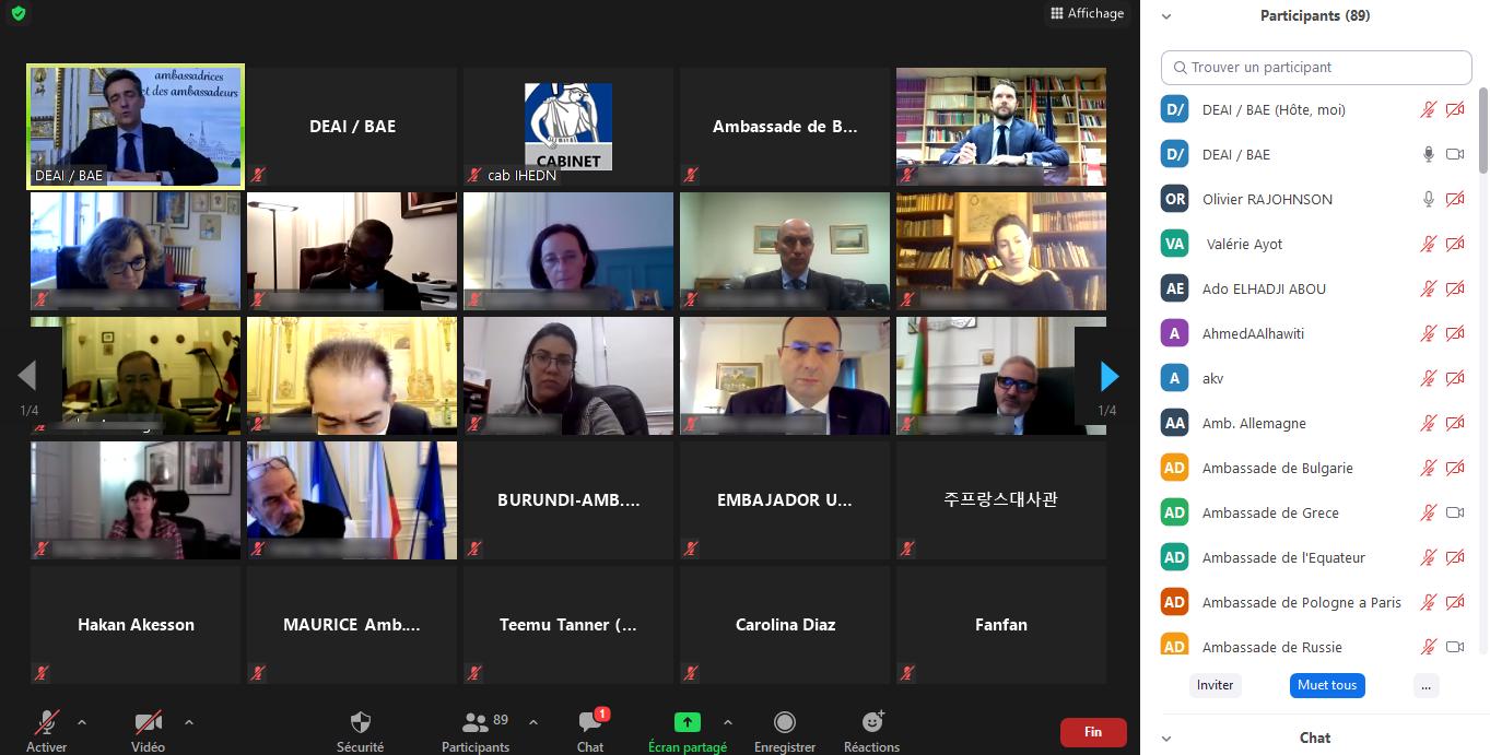 IHEDN   7e Briefing des ambassadrices et ambassadeurs